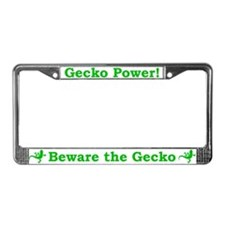 Beware the Gecko License Plate Frame
