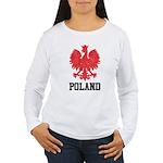 Vintage Poland Women's Long Sleeve T-Shirt