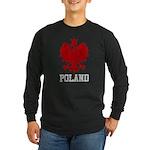 Vintage Poland Long Sleeve Dark T-Shirt