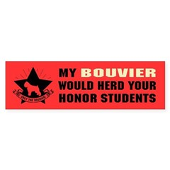 BOUVIER - Honor Student Domination Bumper Sticker