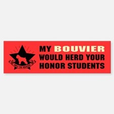 BOUVIER - Honor Student Domination Car Car Sticker