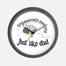 Unbeelievably awesome like Dad Wall Clock