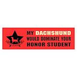 Dachshund Honor Student Domination Sticker