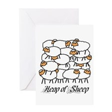 Heap Of Sheep Greeting Card