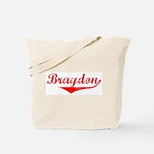 Braydon Vintage (Red) Tote Bag