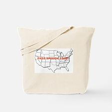 FREE SPEECH ZONE Tote Bag