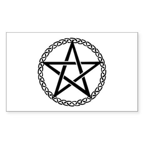Pentagram Rectangle Sticker