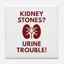 Urine Trouble Tile Coaster