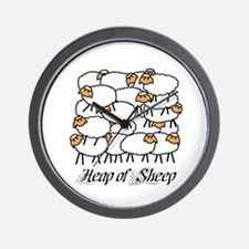 Heap Of Sheep Wall Clock