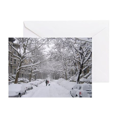 Snow on 6th St. Greeting Cards (Pk of 10)