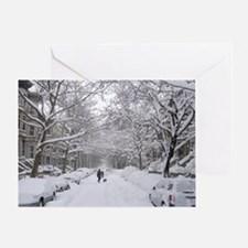 Snow on 6th St. Greeting Card