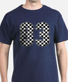 Checkered Number 83 T-Shirt