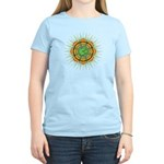 Om Orange/Green Burst Women's Light T-Shirt