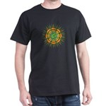 Om Orange/Green Burst Dark T-Shirt