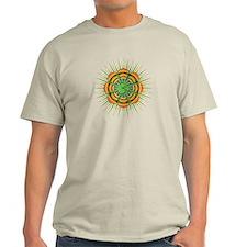 Om Orange/Green Burst T-Shirt