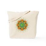 Om Orange/Green Burst Tote Bag
