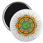 Om Orange/Green Burst Magnet