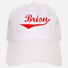 Brion Vintage (Red) Baseball Baseball Cap