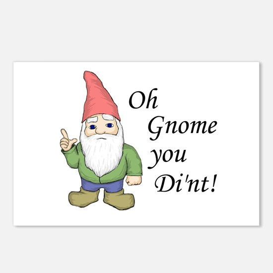Oh Gnome You Di'nt! Postcards (Package of 8)
