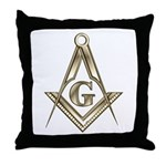 The Square and Compasses Throw Pillow