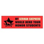German Shepherd Honor Student Sticker