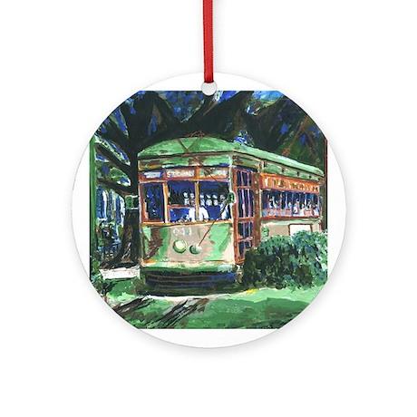 New Orleans Art Streetcar Ornament (Round)