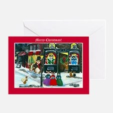 A Christmas Carol Corgi Cards Greeting Card