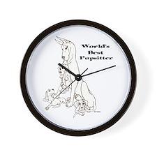 C Best Pupsitter Wall Clock