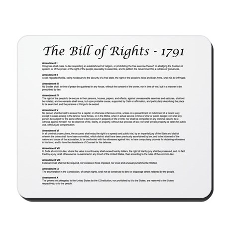 Bill of Rights 2 Mousepad