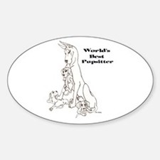 C Best Pupsitter Oval Decal