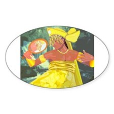 Oshun yeye Oval Decal