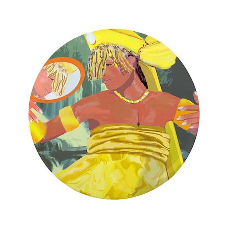 "Oshun yeye 3.5"" Button (100 pack)"