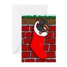 BT Dachshund Stocking Greeting Cards (Pk of 20)