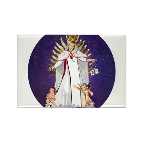 Our Lady of Mercy Rectangle Magnet (100 pack)