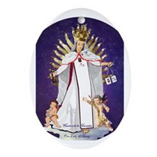 Our Lady of Mercy Oval Ornament