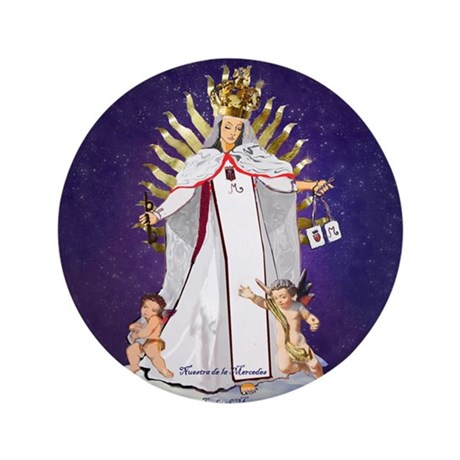"""Our Lady of Mercy 3.5"""" Button (100 pack)"""