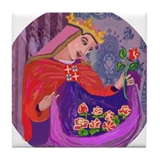 Queen Isabel of Portugal Tile Coaster