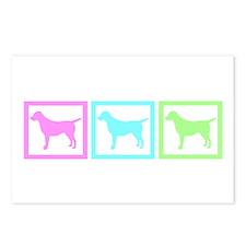 Dog Pastel Squares Postcards (Package of 8)
