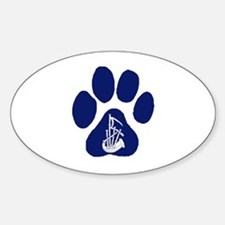 LLP Paw Oval Decal
