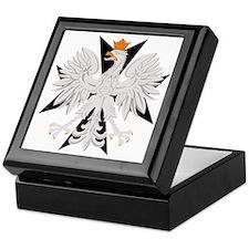 Polish Eagle Black Maltese Cr Keepsake Box
