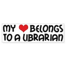 Heart Belongs Librarian Bumper Bumper Sticker