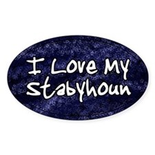 Funky Love Stabyhoun Oval Decal