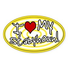 Hypno I Love My Stabyhoun Oval Sticker Ylw