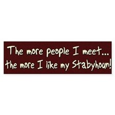 The More People Stabyhoun Bumper Bumper Sticker