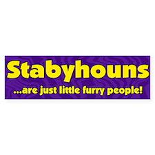 Furry People Stabyhoun Bumper Bumper Sticker