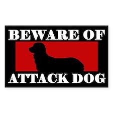 Beware of Attack Dog Stabyhoun Decal