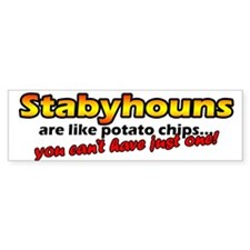 Potato Chips Stabyhoun Bumper Bumper Sticker