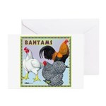 Bantam Chickens Greeting Cards (Pk of 20)