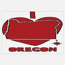 Cool Oregon love Wall Art