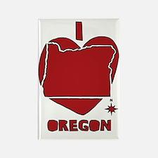 Funny Oregon love Rectangle Magnet